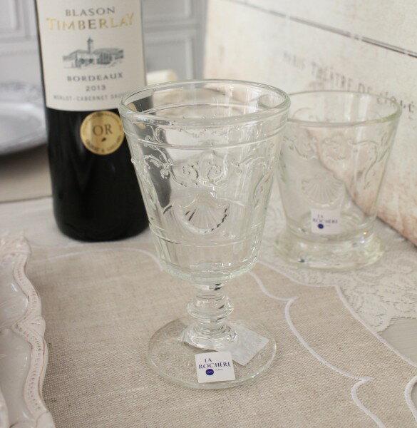 【La Rochere】 フランス ラロシェール社製 エレガントに輝くワイングラス200cc ヴェルサイユ ウォーターグラス ガラス食器 フランス製