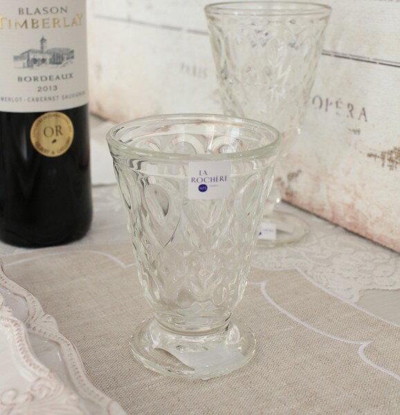 【La Rochere】 フランス ラロシェール社製 エレガントに輝くゴブレット200cc リヨネ(クリアー) ウォーターグラス タンブラー ガラス食器 フランス製