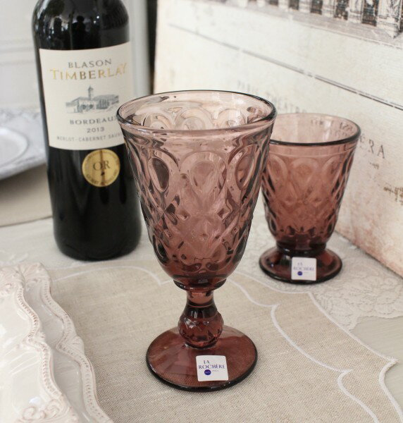 ワイングラス ガラス製(リヨネ・アメジスト230cc) 【La Rochere】 フランス製 ラロシェール ウォーターグラス ガラス食器 アンティーク風 お洒落