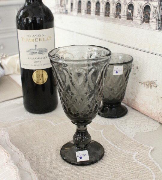 【La Rochere】 フランス ラロシェール社製 エレガントに輝くワイングラス230cc リヨネ(グレー) ウォーターグラス ガラス食器 フランス製