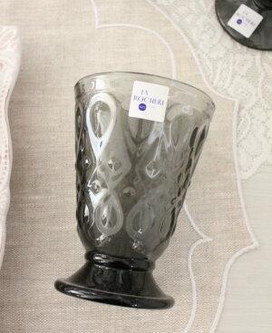 【エントリーで全品P10倍中】【LaRochere】フランスのラロシェール社製エレガントに輝くゴブレットリヨネ(グレー)ウォーターグラスガラス食器
