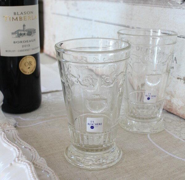 【La Rochere】 フランス ラロシェール社製 エレガントに輝くタンブラー340cc ヴェルサイユ ウォーターグラス ガラス食器 フランス製