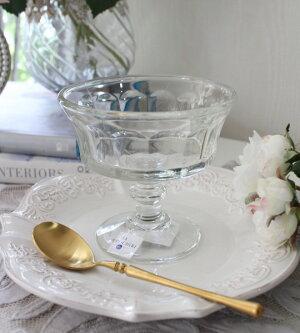 【LaRochere】フランスラロシェール社製エレガントに輝くクープ【シャンパーニュ・220cc】デザート皿デザートカップアイスカップガラス食器