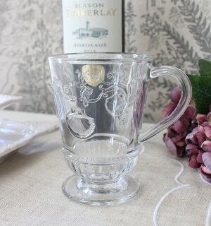 ガラスマグ・ヴェルサイユフランス製【LaRochere】ラ・ロシェールマグカップヴェルサイユガラス食器お洒落コップ持ち手付