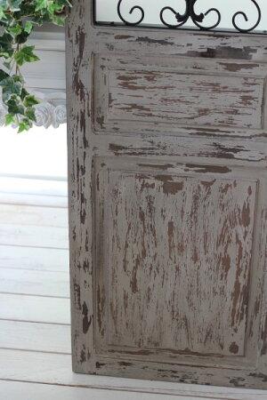 アイアンパネルウッドフレーム(110096)アンティーク風仕上げアイアン&ウッドのアイアンウォールオブジェ壁飾りウォールパネルブロカントウッドヴォレー