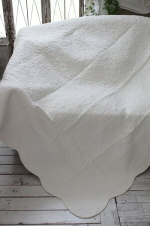トリアノンフラワーキルト(200×200)リバーシブルキルトラグキルティングスローキルティングマルチカバーキルティングラグ敷物布製フレンチカントリーシャビーシック綿100%