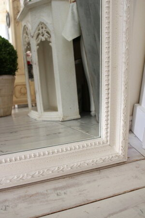 アンティーク風・壁掛けミラー(ヴェニス169)四角長方形壁掛けミラーホワイトシャビーシックフレンチカントリーアンティーク雑貨姫系輸入雑貨antiqueshabbychic