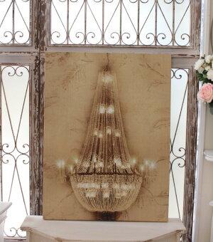 アンティークなウォールパネル(シャンデリアB)壁飾りパネルおしゃれアンティーク雑貨アンティーク風輸入雑貨antiqueshabbychic