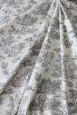 MFTA社 トワルドジュイ・田園(オフホワイト×グレー) トワル・ド・ジュイ フランス製 【輸入生地 カーテン生地 ファブリック カルト…
