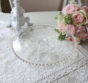 ケーキスタンドLガラスガラス製ケーキプレートケーキ台座ガラス食器コンポートアンティーク食器洋食器アンティーク風雑貨姫系