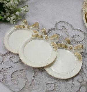 イタリア製のリボンコースターコースター敷物おしゃれシャビーシック輸入雑貨アンティーク風雑貨フレンチカントリー姫系