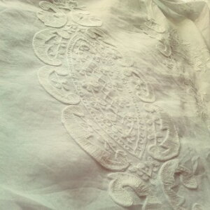 シャビーシックな手刺繍レースクロス♪♪【フリークロス・アメリTALL・WIDE】コットン100%フリーカバーベッドスプレットベッドカバーカーテン布製フレンチカントリーシャビーシックTAMTAM