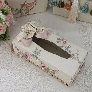 エレガントな刺繍布張りシリーズ(プチトリアノン・ティッシュBOX)ティッシュボックスティッシュカバーフレンチカントリーアンティーク雑貨輸入雑貨antiqueshabbychic