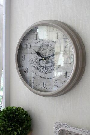 アンティーク風掛け時計(PARIScafe・022WC)アンティーク雑貨掛け時計ウォールクロックアンティーク風シャビーシックantique