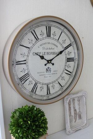 アンティーク風掛け時計(FRENCHグレージュ・020WC)アンティーク雑貨掛け時計ウォールクロックアンティーク風シャビーシックantique
