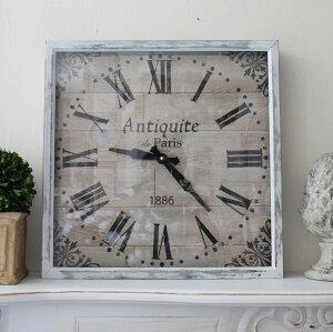 アンティーク風掛け時計(AntiquiteParis・025WC)アンティーク雑貨掛け時計ウォールクロックアンティーク風シャビーシックantique