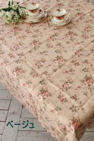☆大人気☆エレガントローズ撥水テーブルクロス135×180薔薇ネコポス便OKはっ水tablecloth姫系