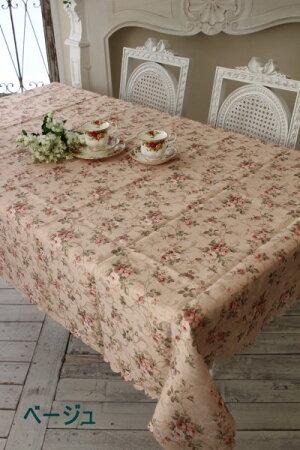 ☆大人気☆エレガントローズ撥水テーブルクロス135×240薔薇はっ水マルチクロスレターパックOK