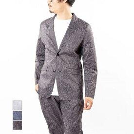 テーラードジャケット ジャケット メンズ 黒 コーデ 春 サマージャケット セットアップ ビジネス スーツ おしゃれ 結婚式 リップストップ生地 長袖 プリント アウター グレー ブラック ネイビー