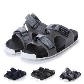 【あす楽対応】サンダル スポーツサンダル コンフォートサンダル スライド ダブルベルト 靴 シューズ メンズ ブラック グレー ネイビー