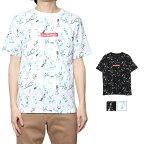 ペイント柄ロゴプリントビッグシルエット半袖Tシャツの商品イメージ
