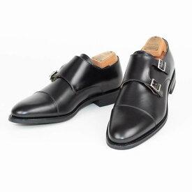 Berwick1707   バーウィック 3637 ラスト 156 ビジネスシューズ ビジネス 小さいサイズ 大きいサイズ 本革 皮靴 靴 通気性 送料無料 交換無料 雨 雪 滑り止め ダブルモンク ダイナイト 黒 ブラック カーフレザー×ダイナイトソール ダブル メンズ モンクストラップ