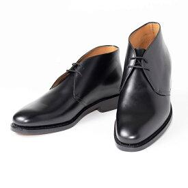 Berwick1707   バーウィック 7955 ラスト 438 ビジネスシューズ ビジネス 小さいサイズ 大きいサイズ 本革 皮靴 靴 通気性 送料無料 交換無料 外羽根 黒 チャッカ ブラック カーフレザー×レザーソール チャッカ メンズ ブーツ
