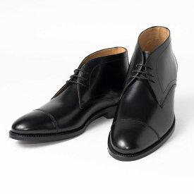 Cordwainer   コードウェイナー CALABRIA ビジネスシューズ ビジネス 小さいサイズ 大きいサイズ 本革 皮靴 靴 通気性 送料無料 交換無料 グッドイヤーウェルト 黒 外羽根 ブラック ボックスカーフ カーフレザー×レザーソール チャッカ メンズ ブーツ