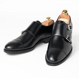 Cordwainer   コードウェイナー CALDWELL ビジネスシューズ ビジネス 小さいサイズ 大きいサイズ 本革 皮靴 靴 通気性 送料無料 交換無料 ダブルモンク グッドイヤーウェルト 黒 ブラック ブラックボックスカーフ×レザーソール ダブル メンズ モンクストラップ
