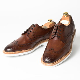 Cordwainer   コードウェイナー COWES ビジネスシューズ ビジネス 紳士 小さいサイズ 大きいサイズ 本革 皮靴 靴 通気性 外羽根 送料無料 交換無料 ブローグ グッドイヤーウェルト 茶 ブラウン ダークブラウン エルバカーフレザー× ラバーソール メンズ ウイングチップ