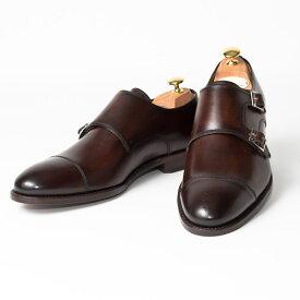Cordwainer   コードウェイナー CALDWELL ビジネスシューズ ビジネス 紳士 小さいサイズ 大きいサイズ 本革 皮靴 靴 通気性 送料無料 交換無料 ダブルモンク グッドイヤーウェルト ダークブラウン ブラウン ボックスカーフ×レザーソールダブル メンズ モンクストラップ