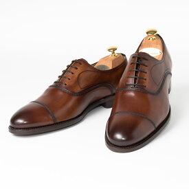 Cordwainer   コードウェイナー SLOUGH ビジネスシューズ ビジネス 小さいサイズ 大きいサイズ 本革 皮靴 靴 通気性 内羽根 送料無料 交換無料 グッドイヤーウェルト ダークブラウン タン スペイン製 ブラウン ボックスカーフ× レザーソール メンズ ストレートチップ