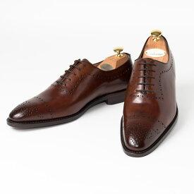 Cordwainer   コードウェイナー LOUTH ビジネスシューズ ビジネス 小さいサイズ 大きいサイズ 本革 皮靴 靴 内羽根 送料無料 交換無料 グッドイヤーウェルト ブラウン ダークブラウン タン ブラウン ボックスカーフ×レザーソール メダリオン メンズ ホールカット