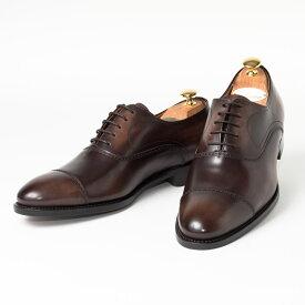 Cordwainer   コードウェイナー SLOUGH ビジネスシューズ ビジネス 小さいサイズ 大きいサイズ 本革 皮靴 靴 内羽根 通気性 送料無料 交換無料 グッドイヤーウェルト インポート 茶 ブラウン ダークブラウン ボックスカーフ× レザーソール メンズ ストレートチップ