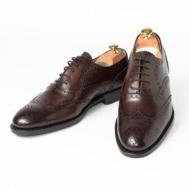 Cordwainer   コードウェイナー STRAND ビジネスシューズ ビジネス 小さいサイズ 大きいサイズ 本革 皮靴 靴 通気性 内羽根 送料無料 交換無料 グッドイヤーウェルト 茶 ダークブラウン ブラウン カーフレザー×レザーソール フルブローグ メンズ ウイングチップ