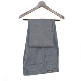 Style Edition | スタイルエディション SuperFine ウール ビジネス スラックス 春夏 大きいサイズ 小さいサイズ ドレス パンツ グレー ウールパンツ ウール100% 無地 ミディアムグレー ワンタック メンズ スラックス