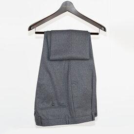 Style Edition | スタイルエディション ビジネス スラックス 日本製 秋冬 大きいサイズ 小さいサイズ ドレス パンツ グレー ウールパンツ ウール100% 無地 フランネルウールミディアムグレー ワンタック メンズ スラックス