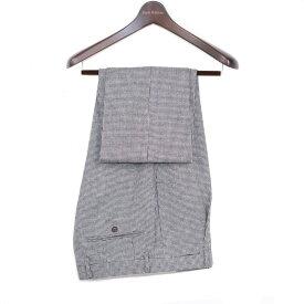 Style Edition | スタイルエディション ミディアムグレー ビジネス スラックス 秋冬 大きいサイズ 小さいサイズ ドレス パンツ グレー ウールパンツ チェック 千鳥フランネルウール ワンタック メンズ スラックス