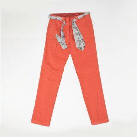 J.W.BRINE | ジェイダブリューブライン カジュアルパンツ カジュアル パンツ 赤 朱 オレンジ MEGAN レッド スリムストレート レディース タックパンツ