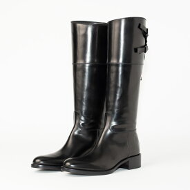 SARTORE | サルトルシューケアクリーム&クロス プレゼント ブラック ダブルクロスバックベルト ロング レディース ブーツ