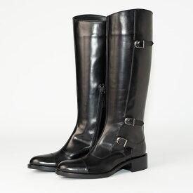 SARTORE | サルトルシューケアクリーム&クロス プレゼント ブラック サイドベルト ロング レディース ブーツ