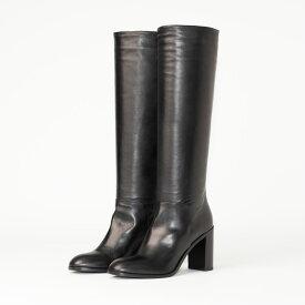 SARTORE | サルトルシューケアクリーム&クロスプレゼントブラック ハイヒールプレーンロング レディース ブーツ
