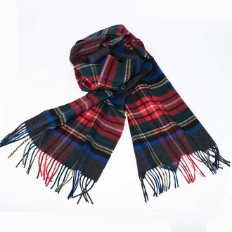 Johnstons | Johnston Charcoal ground Stewart cashmere scarf stall