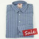 GUIDO DI RICCIO|グイード ディ リッチョ イタリーコットン100% 小紋柄 長袖 シャツ【原価を大幅に割り込んでの処分価格】