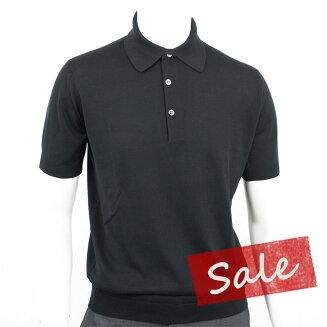 JOHNSMEDLEY|ジョンスメドレー30ゲージ【S3798-BLACK】ブラックポロシャツニット1