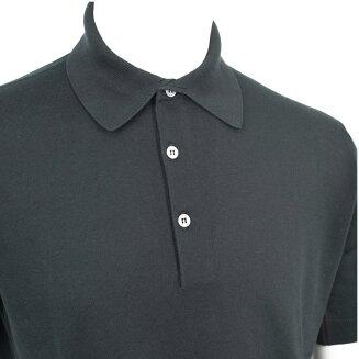 JOHNSMEDLEY|ジョンスメドレー30ゲージ【S3798-BLACK】ブラックポロシャツニット2