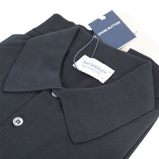 JOHNSMEDLEY|ジョンスメドレー30ゲージ【S3798-BLACK】ブラックポロシャツニット3
