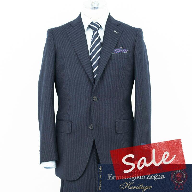 Style Edition| Ermenegildo Zegna エルメネジルド ゼニア Heritage 3mm幅 ネイビー チョークストライプ スーツ