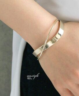 "Bracelet / breath / bracelet / bangle / gold / of the ""unstyle"" curve to cross waves"