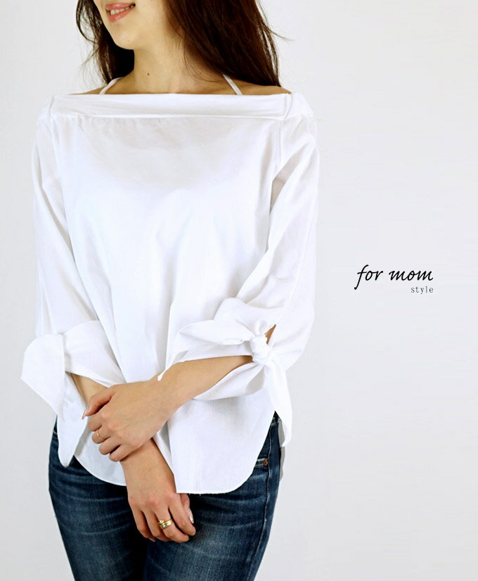 ★★「formom」(ホワイト)素敵なリボン袖で大人可愛いスタイリング【F160507】【S180330】